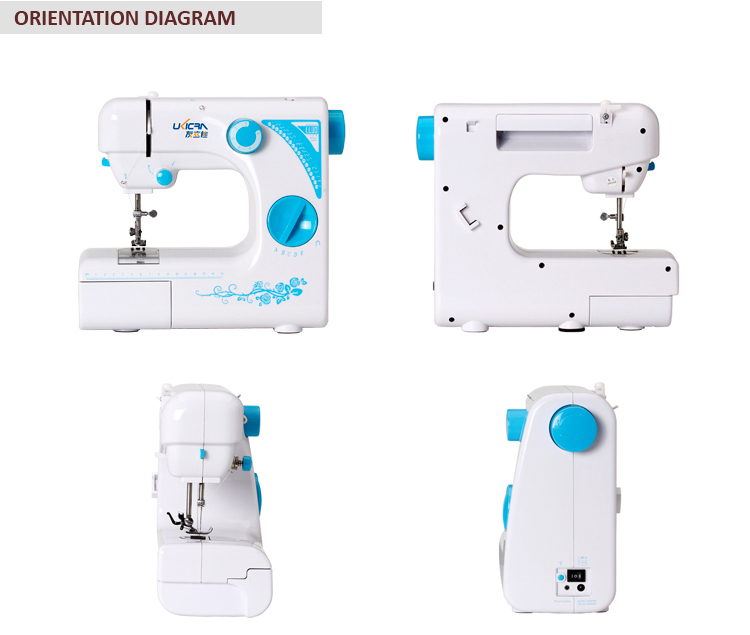 UFR-727 Miniature multifunctian F sewing machine